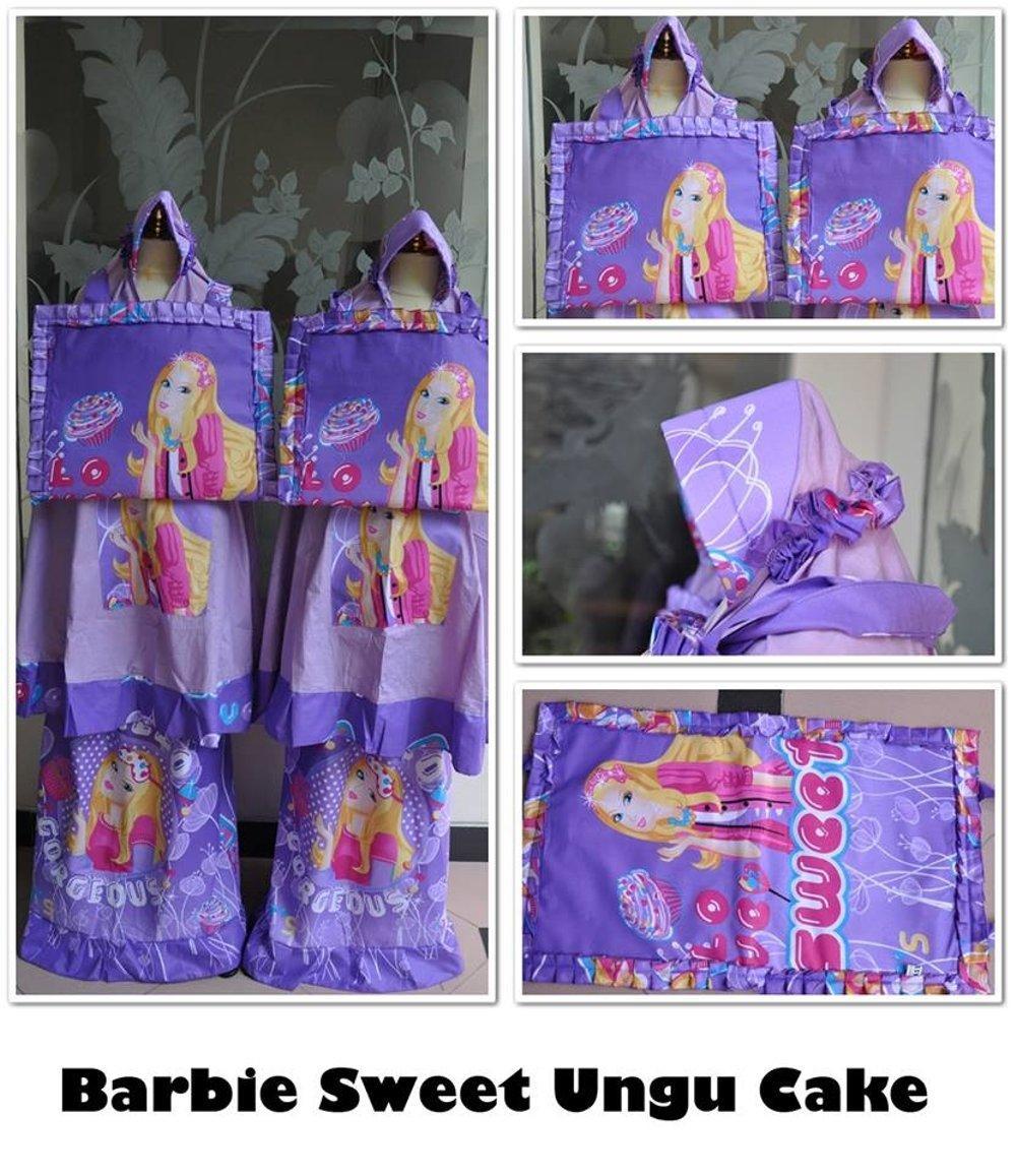 Mukena Anak Karakter Barbie Sweet Ungu XS di lapak Belimukena belimukena