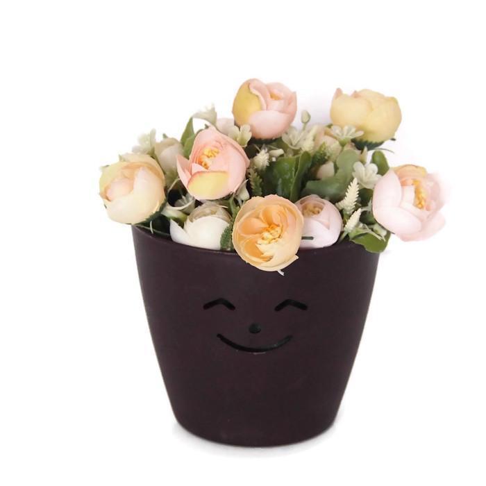 Bunga Pajangan Pot Tempel - Bunga Dekorasi Dan Pajangan - Bunga Mawar Bulat 01da0e44a4