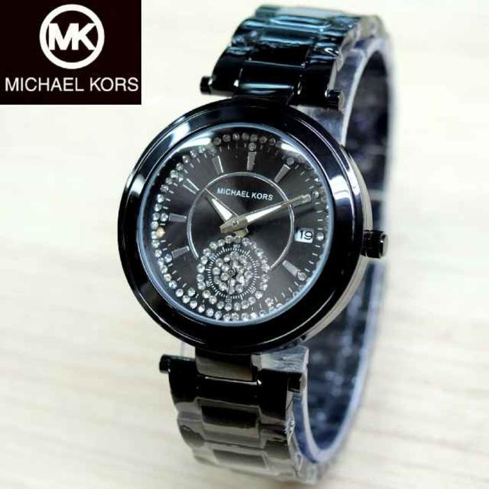 Jam Tangan Wanita Michael Kors / MK Rantai Full Black