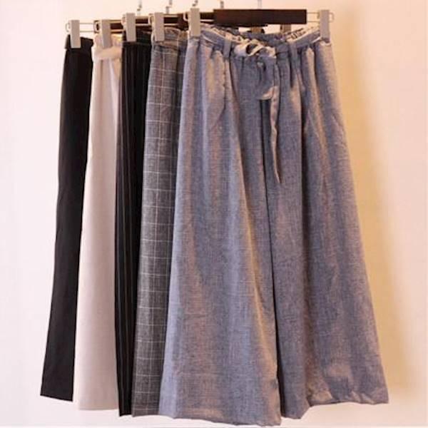Diskon Terlaris Kulot Kotak Abu Celana Cullotes Kulot Pants Wanita Celana Bahan Fashion Korea Murah
