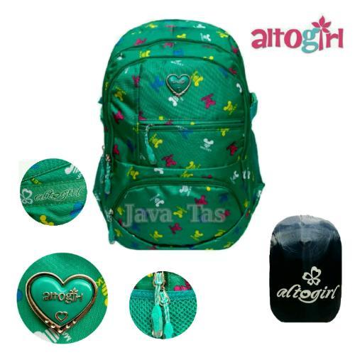 Alto Tas Ransel Backpack Java Girl New Sportivo Ultimo / Sekolah / Kuliah Hot Green + Weather Shield