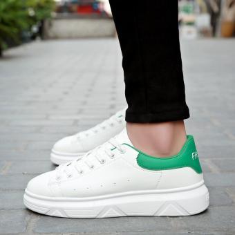 Pelacakan Harga 2018 model baru musim dingin sepatu pria sepatu trendi Gaya  Korea Tren casual sepatu olahraga netral sepatu putih kecil penambah Tinggi  ... d267f5bc3f