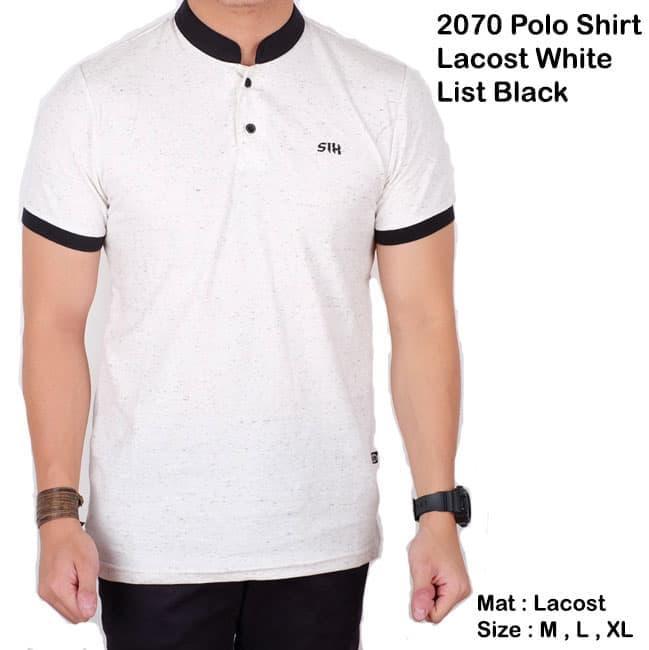 BH polo shirt pria polos hitam lengan pendek / baju kaos kerah koko slim Sale!