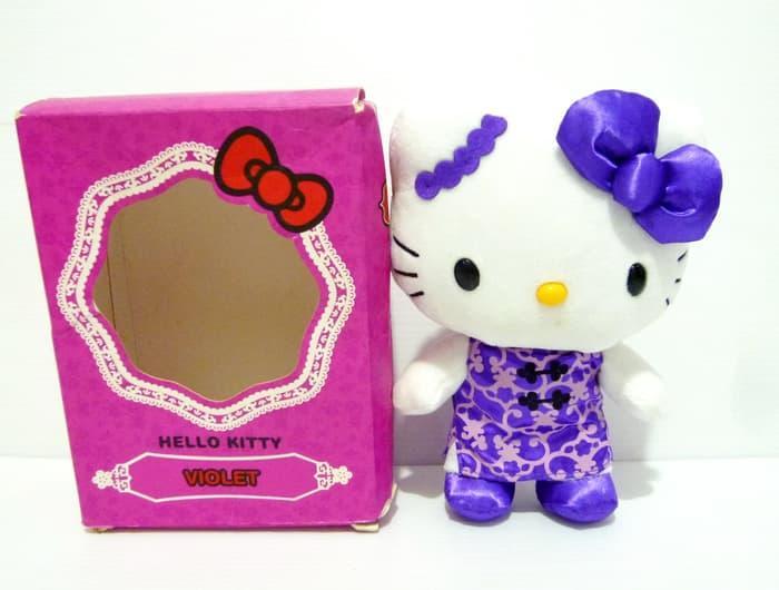 Boneka Hello Kitty Violet Cheongsam Original Sanrio Chinese Costume