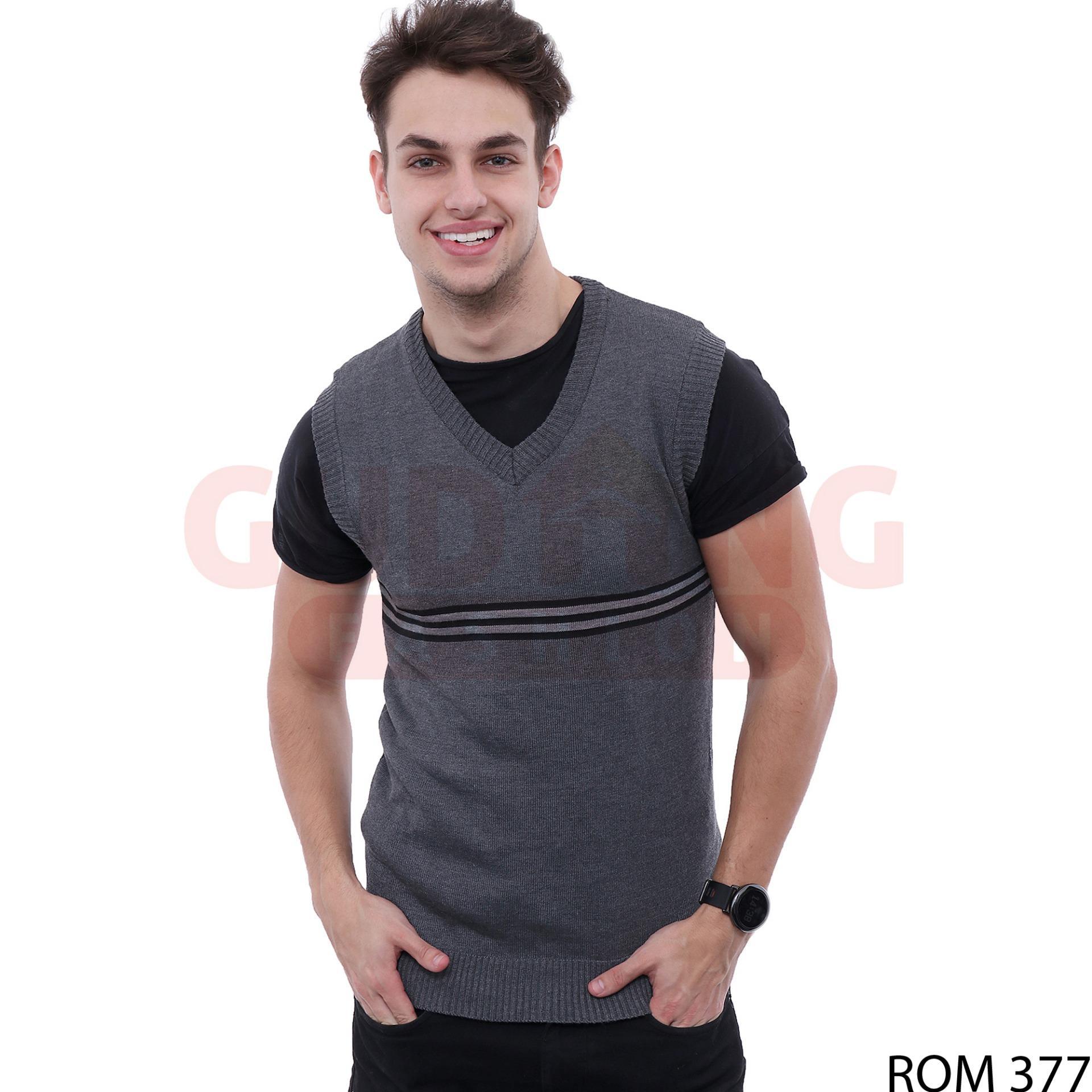 Gudang Fashion - Rompi Sweater Tanpa Lengan