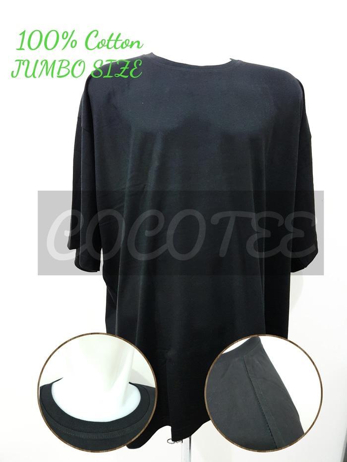 Kaos Polos Jumbo Size / Big Size Katun Combed 30s Size 6XL / XXXXXXL