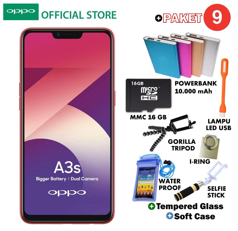 OPPO A3S 2GB/16GB - Plus 9 Paket Acc