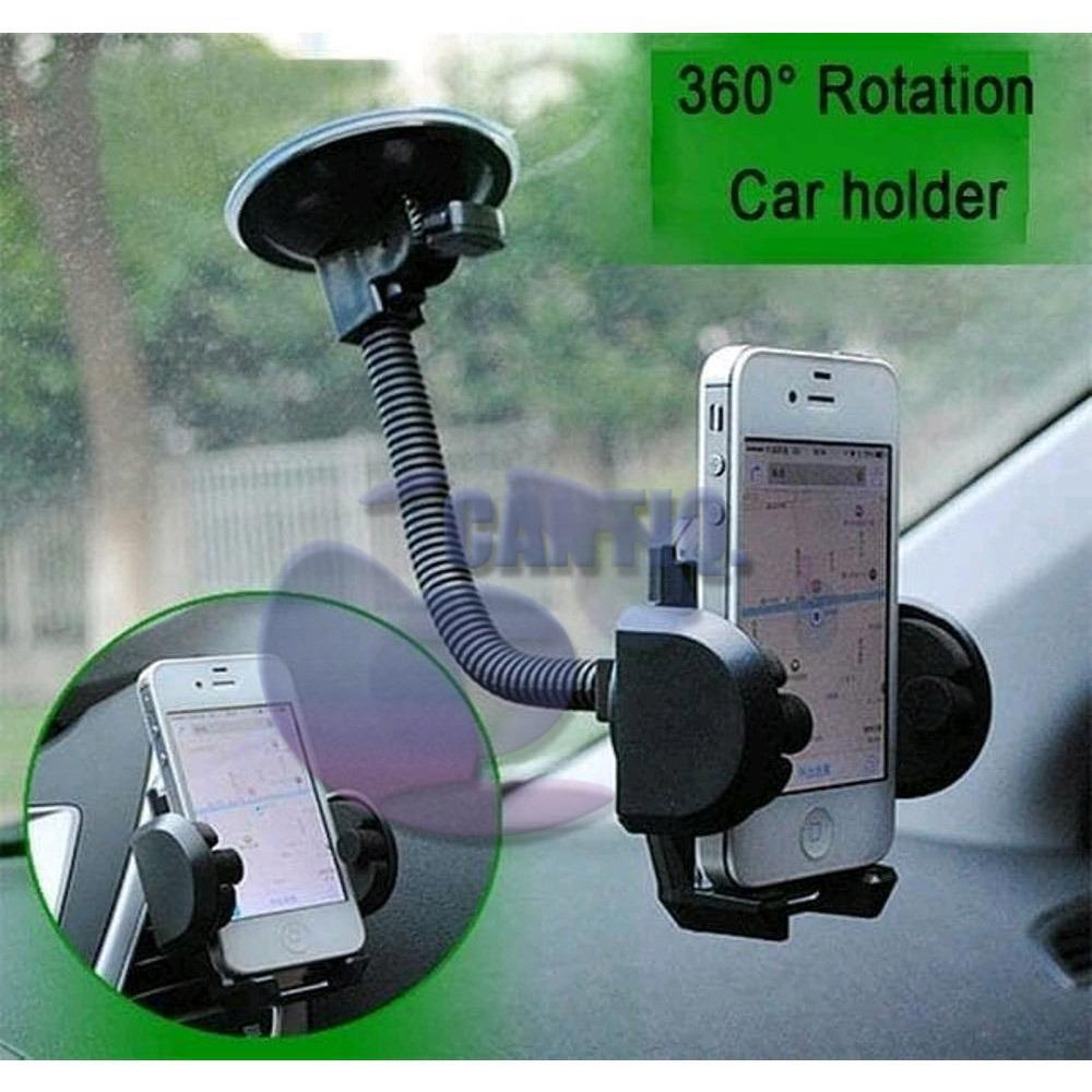 iCantiq Holder Mobil Fleksible / GPS Smartphone Car Holder/ Mobile Phone Holder Car Long Strong / Dudukan HP di Mobil / Holder Dashboard Mobil - Hitam