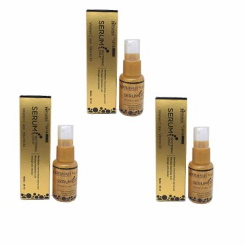 Hanasui Whitening Serum Gold 20ml - 3pcs