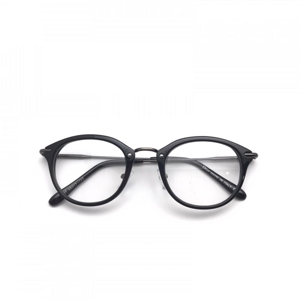 Frame Kacamata Baca Fashion 7398 Full Black Glossy .