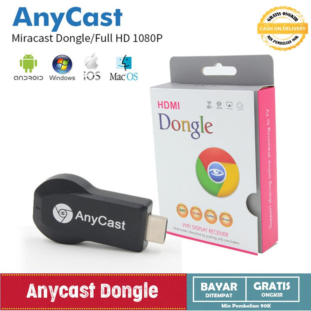Anycast Dongle Wifi HDMI Display Receiver - HDMI Dongle - AnyCast Wireless DLNA Airplay Dongle TV S