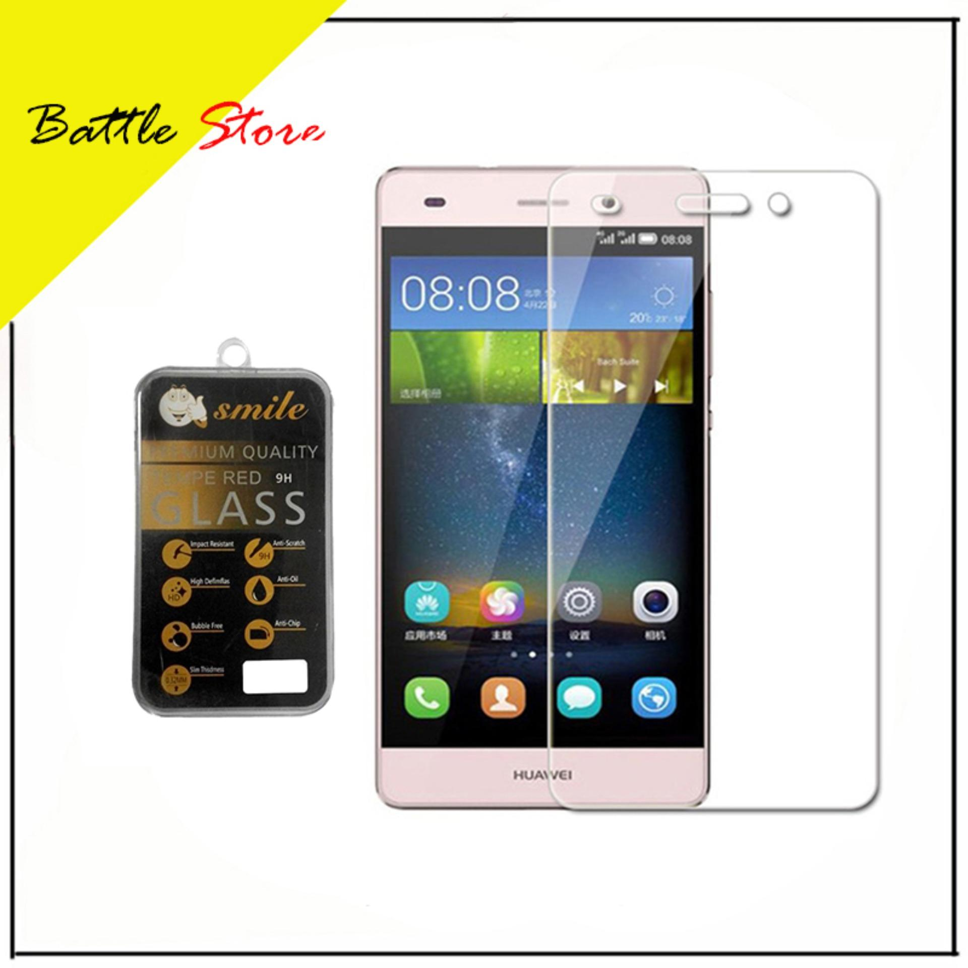 Huawei P9 Plus Smile Screen Protector Tempered Glass / Anti Gores Kaca - White Clear