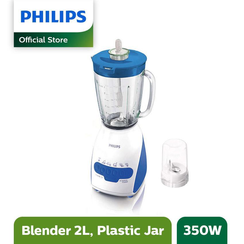 Philips Blender Gelas Plastik 2L HR2115/30 - Biru