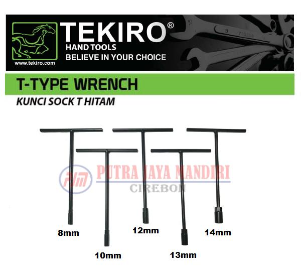 Tekiro T Type Socket Wrench 5pcs / Kunci Sok Soket T Set 8,10,