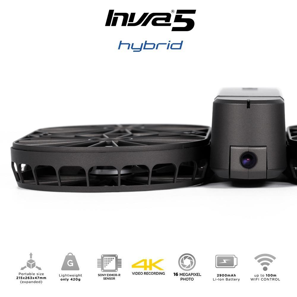 Brica Invra5 Hybrid AirSelfie Drone - Black Garansi Resmi