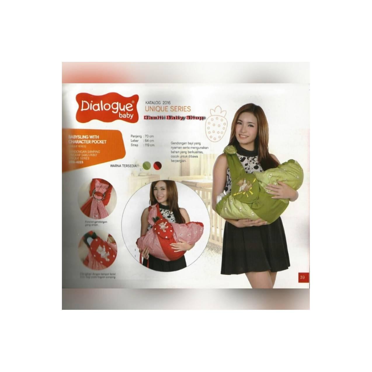 New Gendongan Samping Dialogue DGG 4223 Warna Merah Best Quality