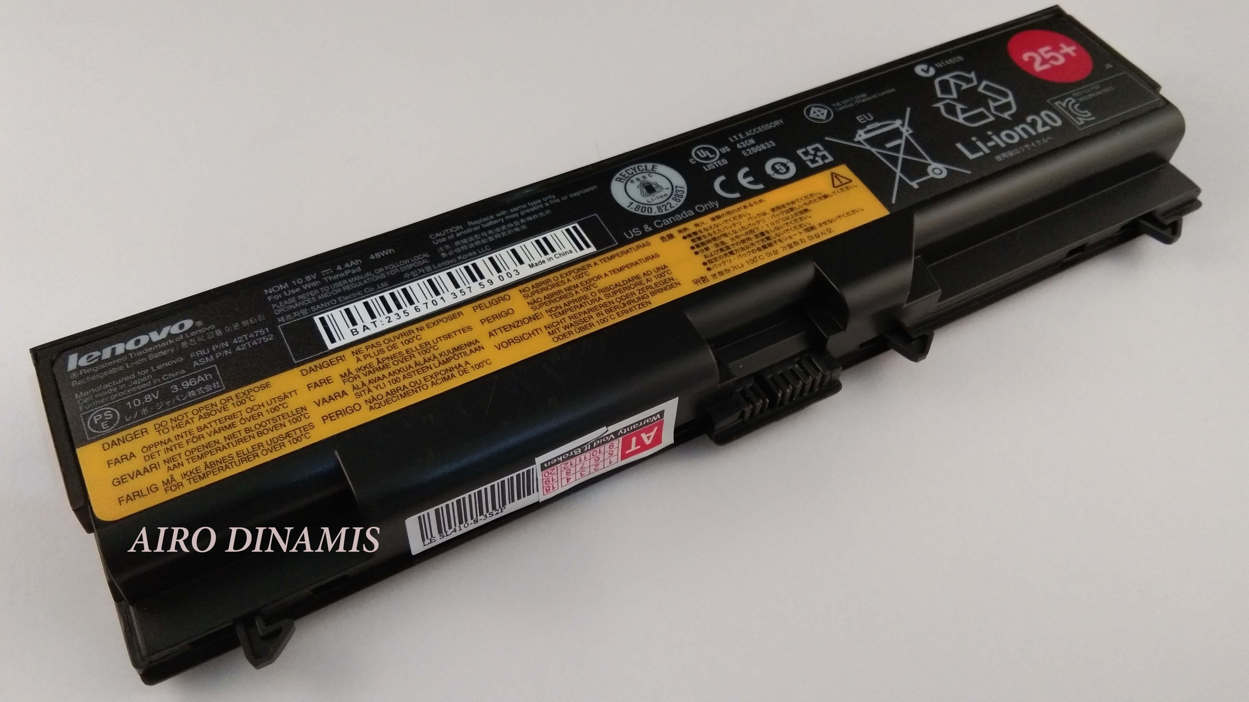 Baterai Laptop original IBM Lenovo Thinkpad Edge SL410 SL510 E420 E520 L410 L412 L420 L510 L512 L520 T410 T410i T420 T420i T510 T520 T520i