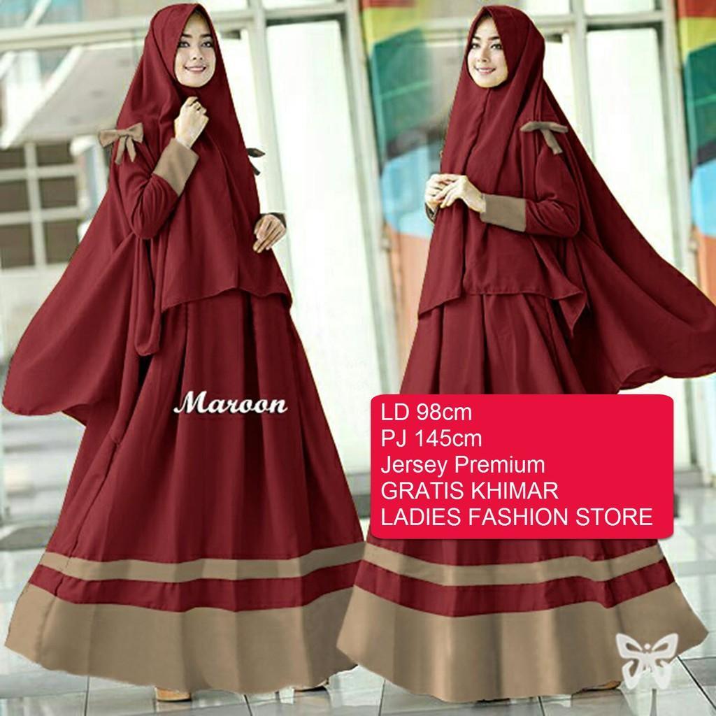 LFS - SS - Gamis Maxi Muslim Ayra Syari / Atasan Wanita / Baju Muslim /