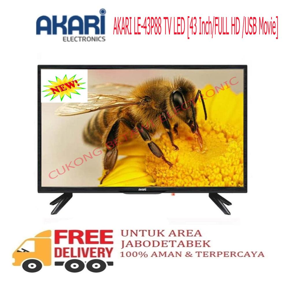 AKARI LE-43P88 TV LED 43 Inch/FULL HD /USB Movie-KHUSUS JABODETABEK