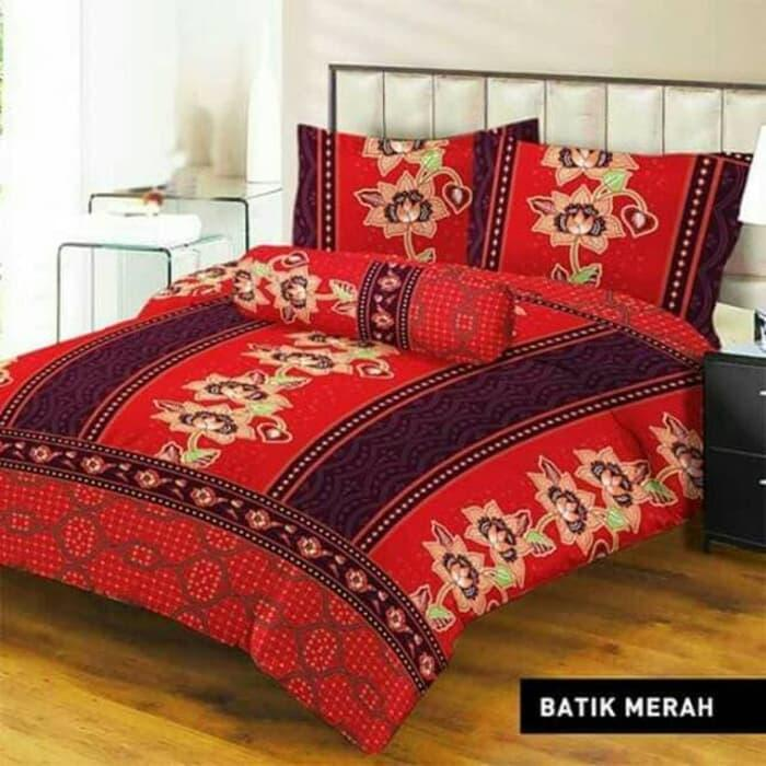 SPREI LADY ROSE BATIK MERAH No.2 QUEEN 160 SEPRAI SPRAI BANTAL GULING EXCLUSIVE