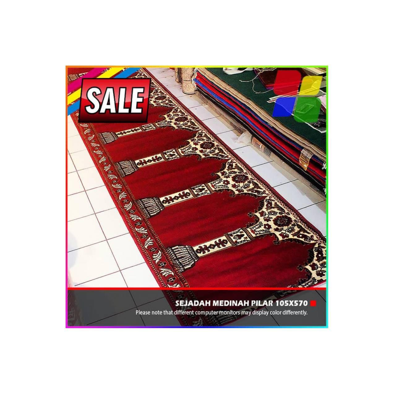PROMO Sajadah Karpet Masjid Mushola Medinah Pilar 105x570cm
