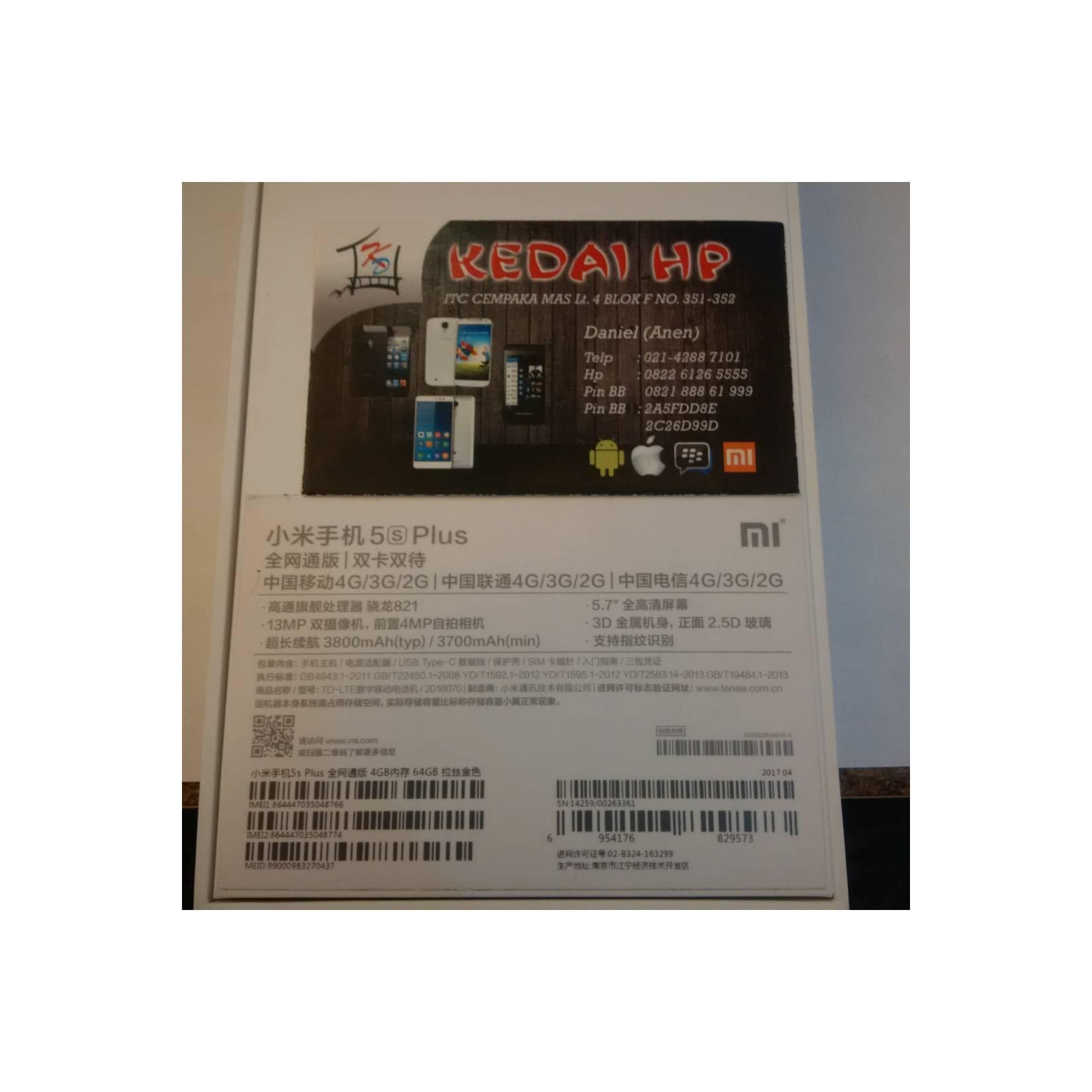 HP XIAOMI MI5S PLUS 4 64 GOLD GARANSI DISTRIBUTOR 1 TAHUN ANDROID XIO  - 27f3002b194d0b2f4dc1c7578ee888f5 - Update Harga Terbaru Hp Xiaomi Mi5 Gsmarena Agustus 2018