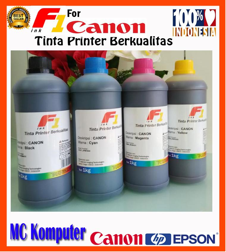 Tinta Printer F1 Ink for Canon Pixma IP 2770, IP 1980 CMYK 1 KG