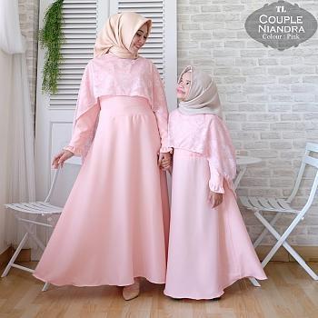 key&kay88 gamis muslim syar'i monalisa niandra ibu dan anak couple.