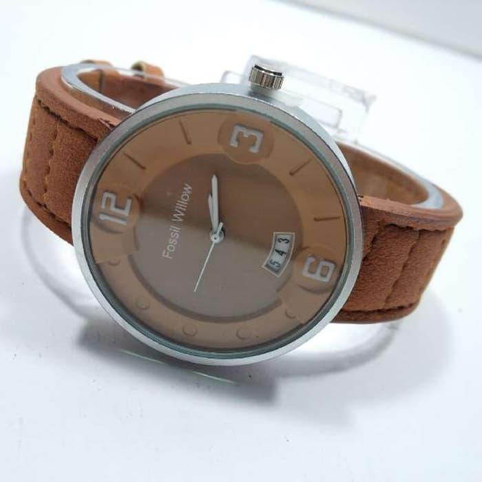 FOSSIL WILLOW BROWN ANGKA WHITE