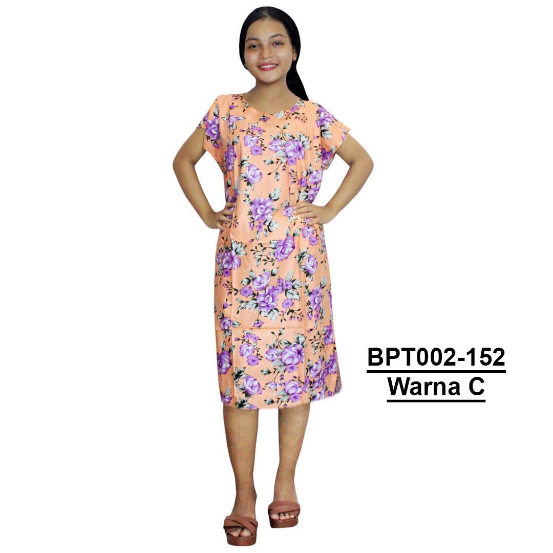 Dress Santai, Midi, Atasan Batik, Motif Bunga - (BPT002-152) Batikalhadi Online