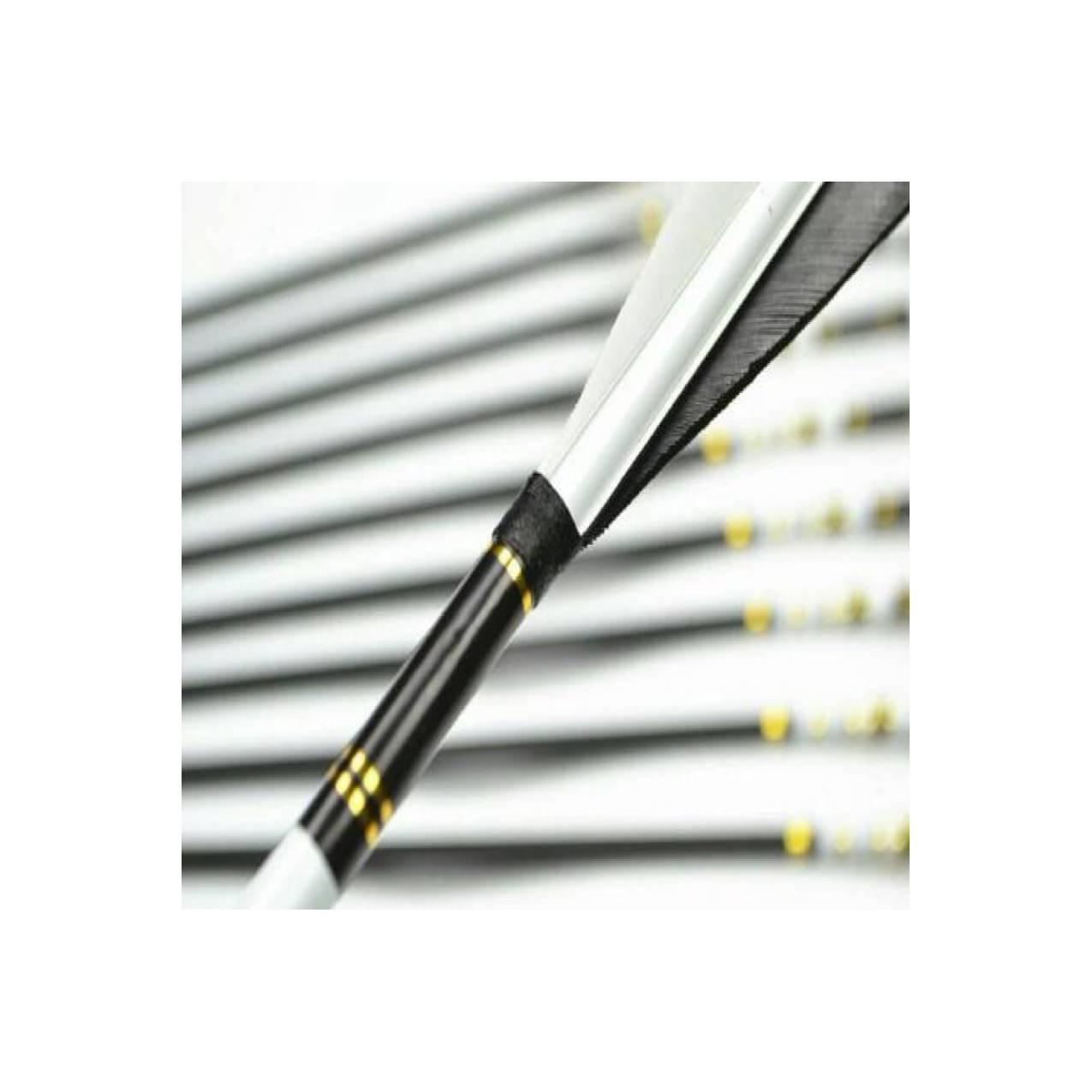 TERBATAS BEST SELLER Arrow Carbon Bulu Kalkun Hitam Putih PALING MURAH