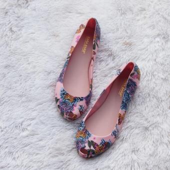 Pencarian Termurah Bara Bara - Flatshoes Jelly Wanita Motif Bunga Terbaru 1838MSB sale - Hanya Rp71.625