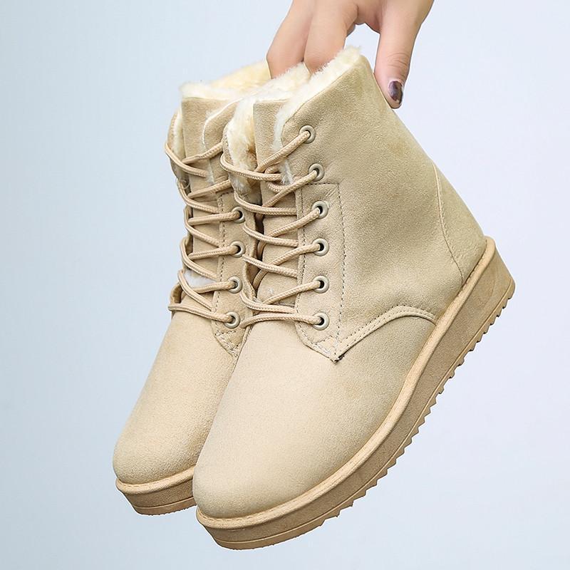 Musim gugur dan dingin tambah beludru lebih tebal Boots Salju Sepatu katun  sepatu bot pendek sepatu df5afd39d4