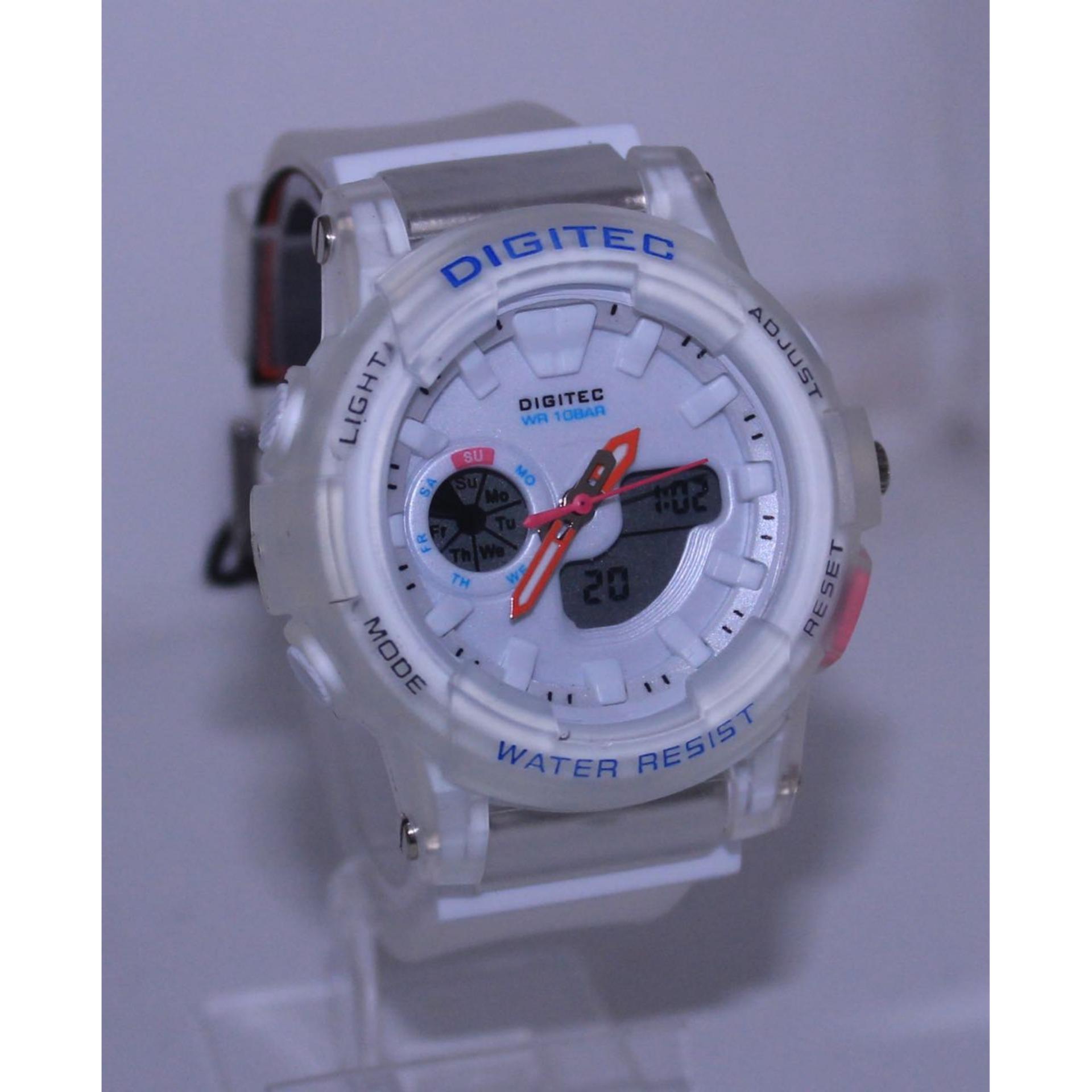 Digitec Jam Tangan Wanita Rubber Dualtime DG2099T - Water Resistant 10bar