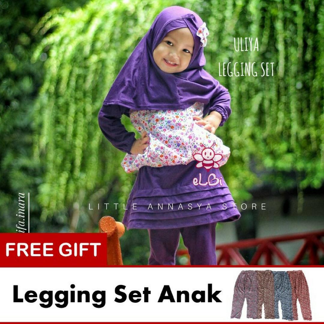 eLBi - Baju Muslim Anak Perempuan / Baju Muslim Balita Perempuan / Gamis Anak / Baju Muslim Anak / Baju Muslim Bayi Perempuan / Baju Pesta Anak Muslim / Uliya Series