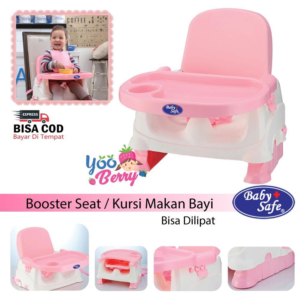 Baby Safe Booster Seat Kursi Lipat Makan Bayi Biru & Pink YooBerry