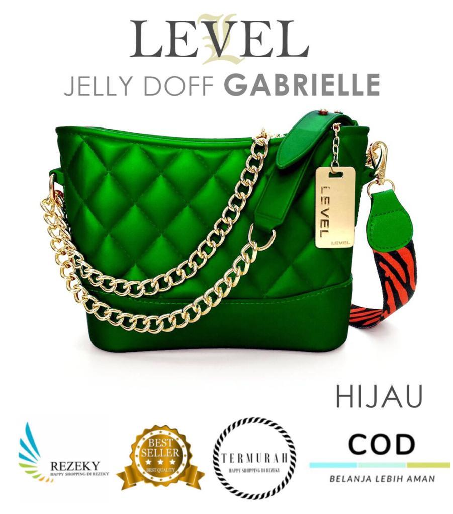 TAS LEVEL JELLY DOFF GABRIELLE IMPORT FASHION Wanita Batam Murah Selempang-RZ