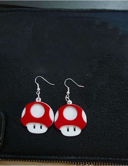 PROMO LRC Anting Gantung Red Mushroom Shape Design Earrings E67995 - pPHnFrZp