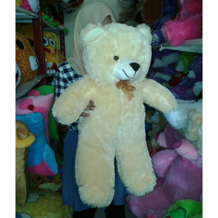 BONEKA TEDDY BEAR XL UKURAN 60 CM WARNA CREAM 18c6080c85