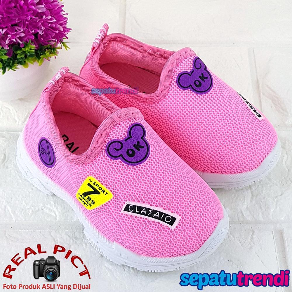 Sepatu Anak Perempuan Slip On Fashion Import MKSP Sepatu Trendi Sepatu Anak  Bayi Cewek Murah Berkualitas c39231b1a2