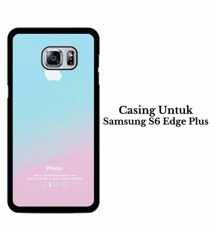 Casing SAMSUNG S6 EDGE PLUS Apple Logo Pink Aqua Teal Pastel Hardcase Custom Case Se7enstores