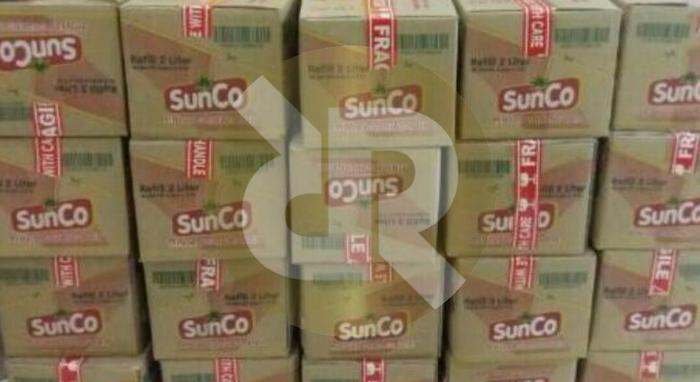 sunco minyak goreng 2 ltr 1 karton ( 6 pouch )