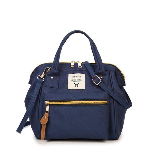 Tas Anello Selempang Ransel Backpack Small Mini Bag Import Tas Wanita - DARK BLUE - EDW 027