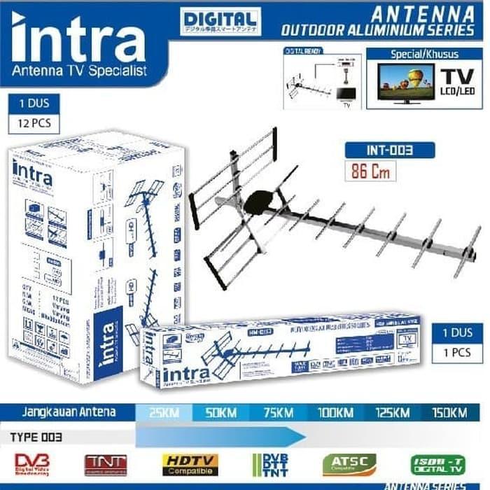 Intra HM-003 Antena Outdoor Spesial Utk LED / LCD TV FREE KABEL 13Meter
