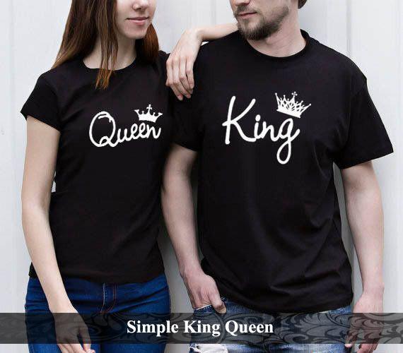 Bajucouple Baju Kaos Couple Pasangan Terbaru Baju Couple Murah Kaos Couple Simpel King Queen [hitam] By Bajucouple--.