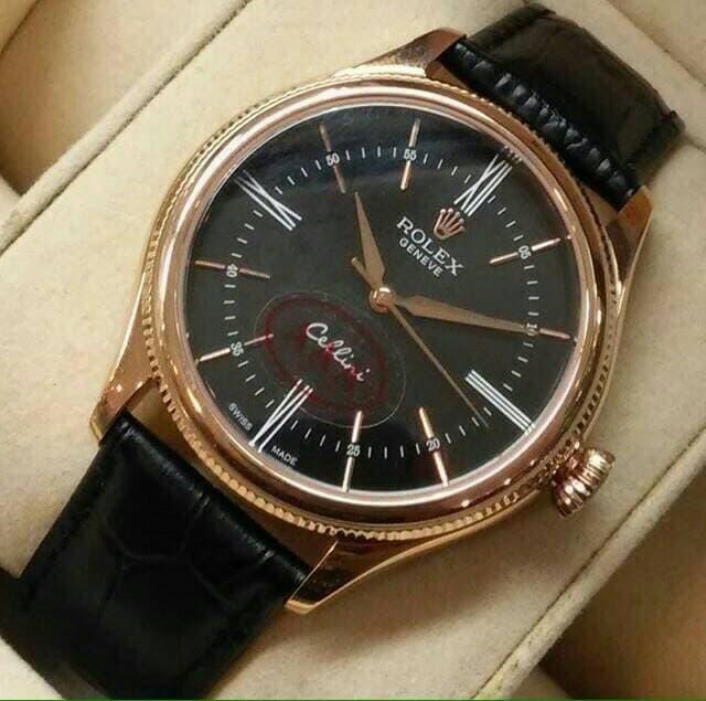 Harga Diskon!! Rollex Cellini Date. Leather. Super Grade Aaa Premium - ready stock