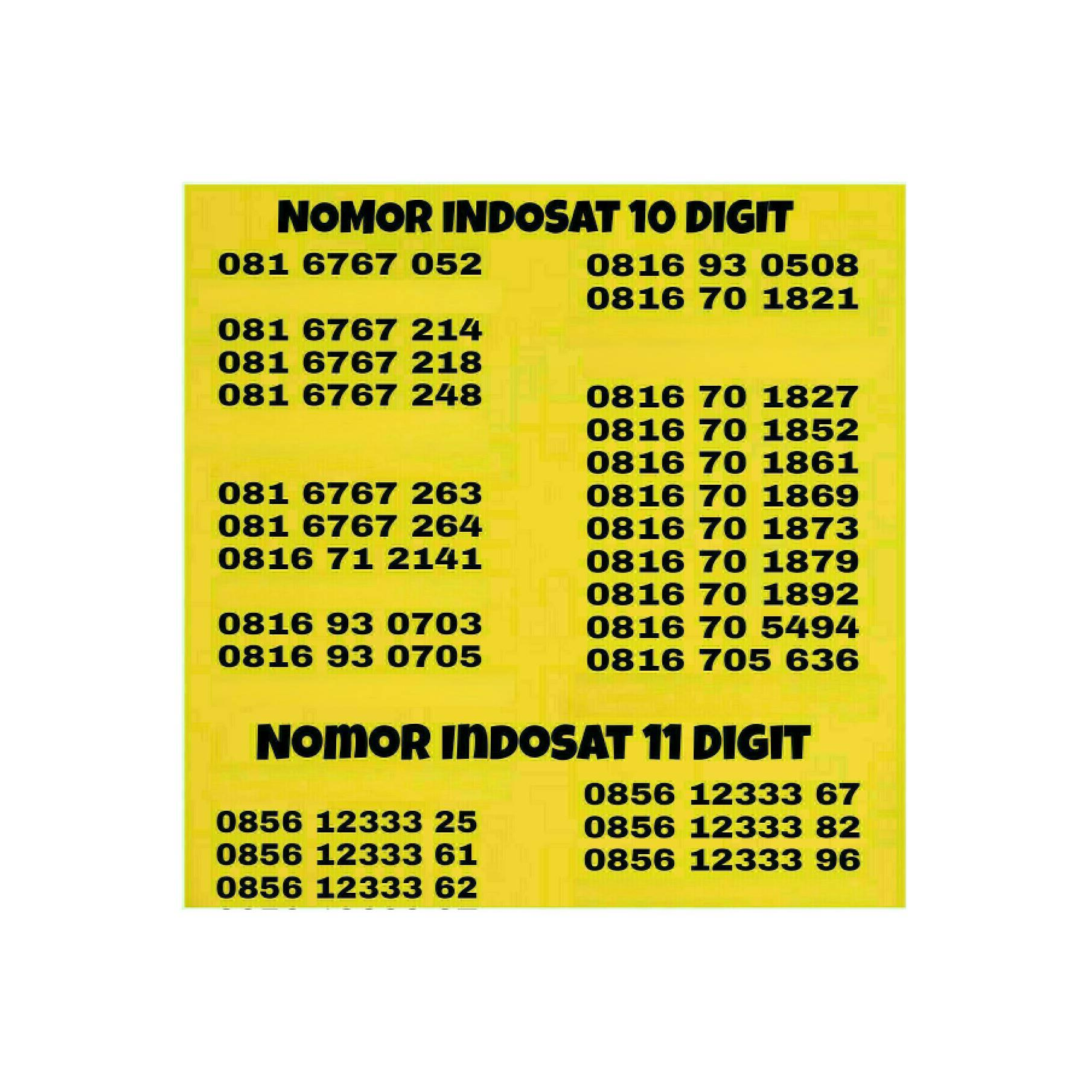 Buy Sell Cheapest Kartu Xl 10 Best Quality Product Deals Digit 0816 Nomor Cantik Indosat Perdana Im3 Simpati