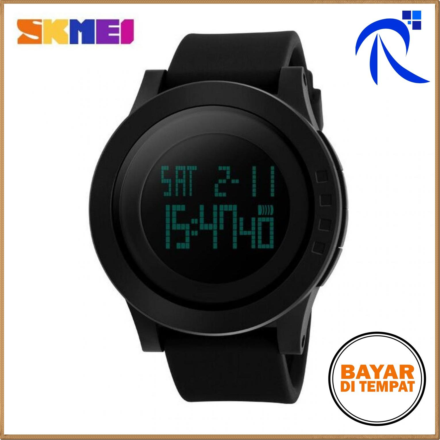 Skmei Trendy Men Led Display Watch Water Resistant 50m Dg1142 - Black / Hitam / Pink / Merah Muda / Blue / Biru / Green / Hijau / Purple / Ungu Jam Tangan Cowok Cowo Pria Trendy Stylish Keren Kekinian Berkualitas Original FREE ONGKIR