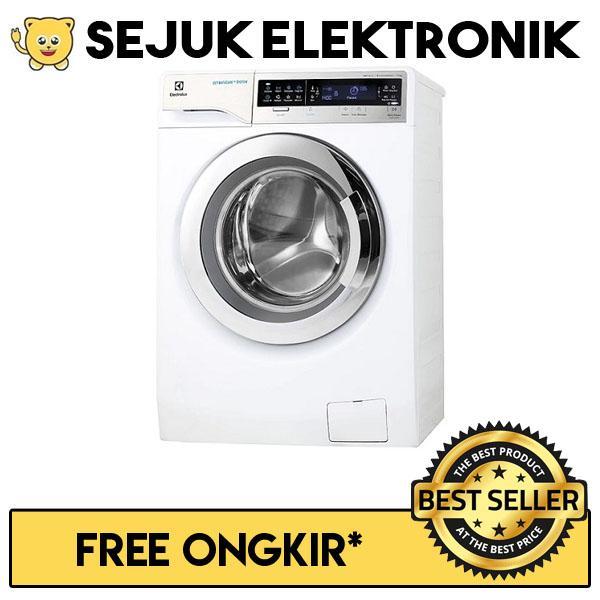 Electrolux EWF 14113 Mesin Cuci Front Loading 11 KG Putih (KHUSUS JADETABEK)