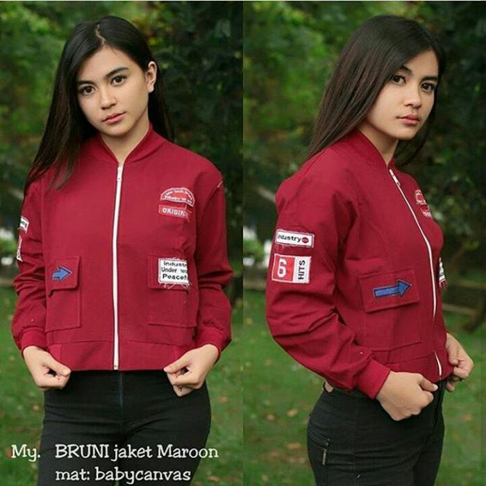 Jaket Kanvas Wanita BRUNI JAKET Parka Bomber Bandung